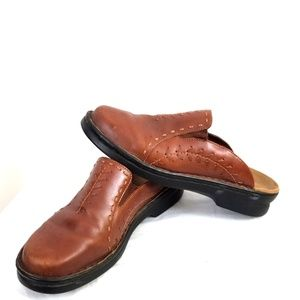 Clark Size 8 Leather Clogs Mules